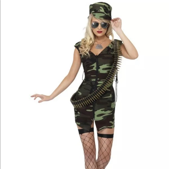 a8ef721de40 Army Girl Costume Women Combat Soldier Sexy Dress NWT